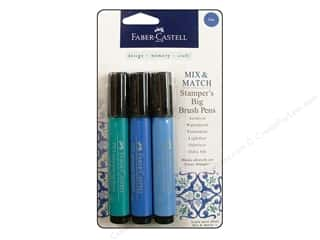Weekly Specials Faber Castell: FaberCastell Stamper's Big Brush Pen Mix & Match Set Blue