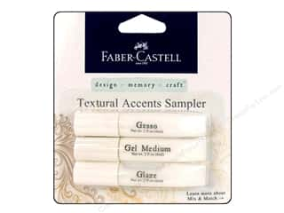 Glues/Adhesives paper dimensions: FaberCastell Textural Accents Sampler