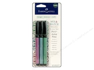 Weekly Specials Pen: FaberCastell Pitt Artist Pen MM Set Metallic Color