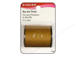 Threads Blue: Singer Thread Blue Jean Gold 100yd
