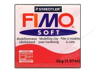 Fimo Art Accessories: Fimo Soft Clay 56gm Cherry Red