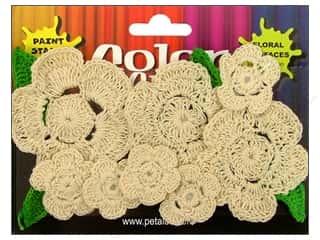 Petaloo Color Me Crazy Floral Crocheted Natural Assorted 12pc