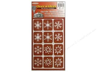 Armour Over &#39;N&#39; Over Stencil Snowflakes
