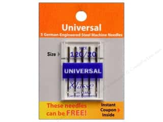 Klasse Needles Klasse Machine Needle Universal: Klasse Machine Needle Universal Size 120/20 5pc Card