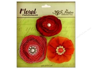 Petaloo Expressions Collection Flowers Red 3pc