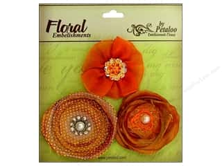 Finishes Flowers: Petaloo Expressions Collection Flowers Orange 3pc