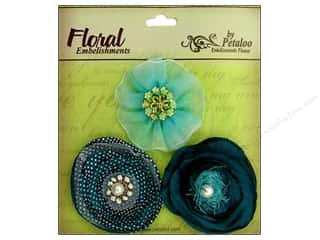 Petaloo Expressions Flowers Peacock 3pc