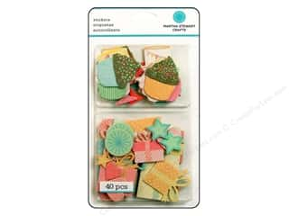 Martha Stewart Chipboard Stickers Present and Icon