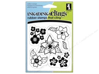 Inkadinkado Stamp Inkadinkaclings Flowers