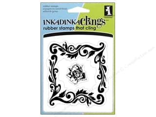 Inkadinkado Stamp Inkadinkaclings Rose Frame