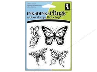Clearance Blumenthal Favorite Findings: Inkadinkado InkadinkaClings Stamp Butterflies