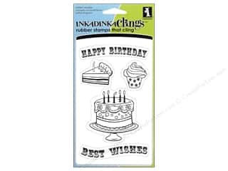 Inkadinkado Stamp Inkadinkaclings Happy Birthday