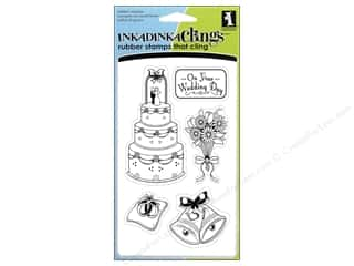 Inkadinkado Stamp Inkadinkaclings Wedding Day