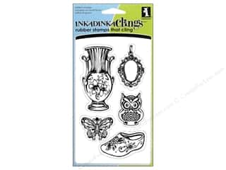 Rubber Stamps: Inkadinkado InkadinkaClings Stamp Vintage Collectibles