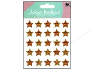 stickers  -3D -cardstock -fabric: Jolee's Boutique Stickers Repeats Gold Stars