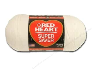 Red Heart Super Saver Jumbo Yarn Soft White 14 oz.