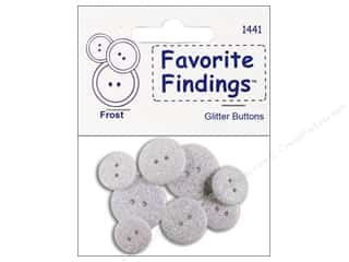 Clearance Blumenthal Favorite Findings: Blumenthal 2 Hole Buttons Glitter Frost 7pc