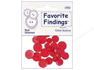 Blumenthal Button FF Glitter Red 20pc