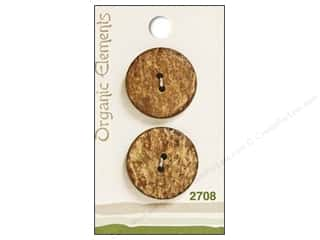 "Blumenthal Button Organic Elements 1"" Nat Mrbl 2pc"