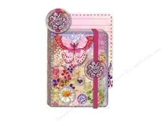 Clearance Pine Ridge Art List Pads: Punch Studio Journal Pocket Brooch Butterfly