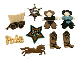 Jesse James Buttons Jesse James Embellishments: Jesse James Dress It Up Embellishments Howdy Partner