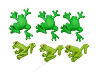 Jesse James Dress It Up Embellishments Button Fun Tree Frogs