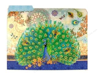 Gifts & Giftwrap Scrapbooking Gifts: Punch Studio File Folder Rpyal Peacock (10 pieces)