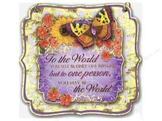 Punch Studio Decorative Plaque To The World