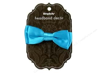Simplicity Headband Decor Bow Satin Turquoise