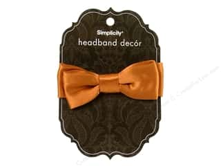"Hair 5"": Simplicity Hair Headband Decor Bow Satin Amber"
