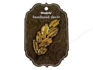 Simplicity Headband Decor Leaves Sequin