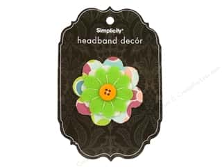 Simplicity Headband Decor Flower Layered Button 2