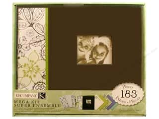 K&amp;Co Scrapbook Kit 8.5x8.5 Mega Black &amp; White