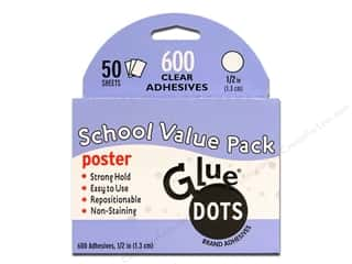 "Glue Dots Poster 1/2"" School Value Pack 600pc"