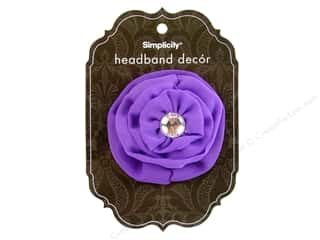 Simplicity Headband Decor Flower Cabbage Rose 2