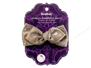 Simplicity Headband Decor Bow Stud Dark Grey