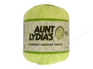 Aunt Lydia&#39;s Bamboo Crochet Thread Size 10 Key Lime