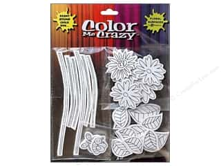 Petaloo Stickers: Petaloo Sticker Color Me Crazy 3D Silhouettes Loose Flower