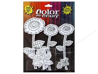 Petaloo Stickers: Petaloo Sticker Color Me Crazy 3D Silhouettes Dahlias