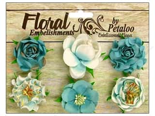 Petaloo Canterbury Roses Teal 6pc