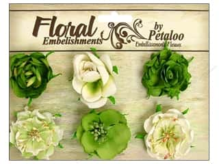 Petaloo Canterbury Roses Lime 6pc