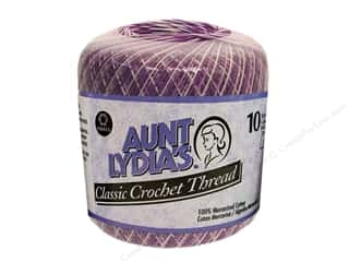 Aunt Lydia's Classic Crochet Thread Size 10 Shaded Purples