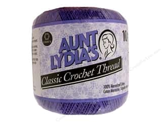 Yarn, Knitting, Crochet & Plastic Canvas Pearl Cotton: Aunt Lydia's Classic Cotton Crochet Thread Size 10 Violet