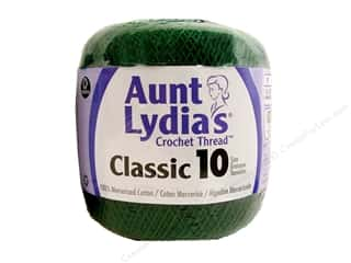 Yarn, Knitting, Crochet & Plastic Canvas Pearl Cotton: Aunt Lydia's Classic Cotton Crochet Thread Size 10 Forest Green