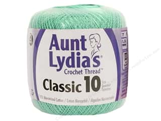 Yarn Crochet Thread & Yarn: Aunt Lydia's Classic Cotton Crochet Thread Size 10 Aqua