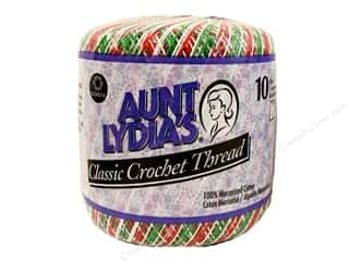 Yarn Crochet Thread & Yarn: Aunt Lydia's Classic Cotton Crochet Thread Size 10 Shaded Christmas