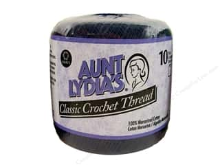 Threads Blue: Aunt Lydia's Classic Cotton Crochet Thread Size 10 Navy