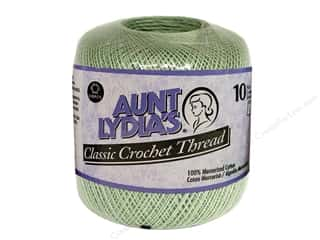 Yarn, Knitting, Crochet & Plastic Canvas Pearl Cotton: Aunt Lydia's Classic Cotton Crochet Thread Size 10 Frosty Green