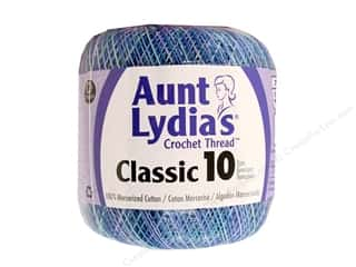 Yarn & Needlework Crochet Threads / Pearl Cottons: Aunt Lydia's Classic Cotton Crochet Thread Size 10 Ocean
