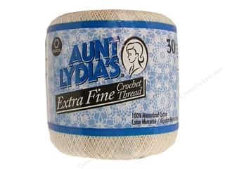 Aunt Lydia's Extra Fine Crochet Thread Size 30 Natural